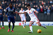 Milton Keynes Dons defender George Williams (2) clears the ball during the EFL Sky Bet League 1 match between Milton Keynes Dons and Charlton Athletic at stadium:mk, Milton Keynes, England on 17 February 2018. Picture by Dennis Goodwin.