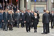 ©www.agencepeps.be/ F.Andrieu-Alain Rolland www.imagebuzz.be<br /> France - Lille - 130613 - Funéraille Pierre Mauroy maire de la ville et ancien ministre, en présence de Martine Aubry - Jean-Marc Ayrault