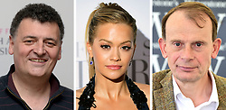 File photos of (from the left) Steven Moffat, Rita Ora and Andrew Marr.