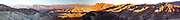 A long panorama taken at Zabriskie Point at sunrise in the winter