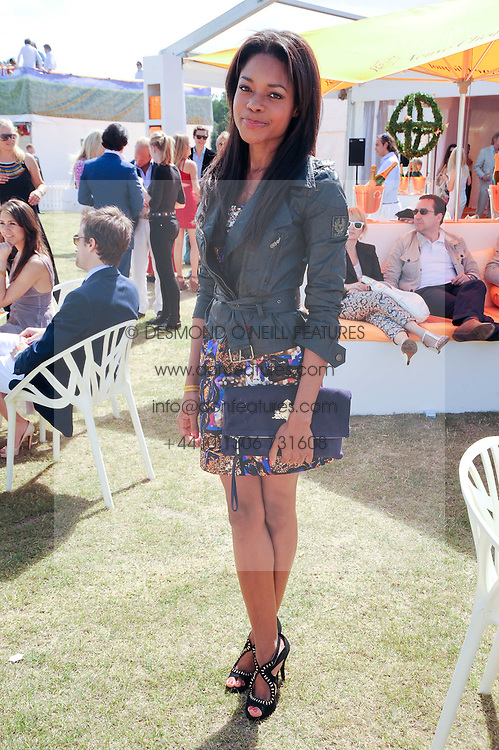 NAOMIE HARRIS at the Veuve Clicquot Gold Cup polo final held at Cowdray Park, Midhurst, West Sussex on 18th July 2010.