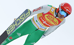 20.12.2014, Nordische Arena, Ramsau, AUT, FIS Nordische Kombination Weltcup, Skisprung, Staffel, im Bild Fabian Riessle (GER) // during Ski Jumping of FIS Nordic Combined World Cup, at the Nordic Arena in Ramsau, Austria on 2014/12/20. EXPA Pictures © 2014, EXPA/ Martin Huber