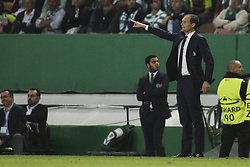 October 31, 2017 - Lisbon, Portugal - Juventus's coach Massimiliano Allegri gestures from the sideline during the Champions League  football match between Sporting CP and Juventus FC at Jose Alvalade  Stadium in Lisbon on October 31, 2017. (Credit Image: © Carlos Costa/NurPhoto via ZUMA Press)