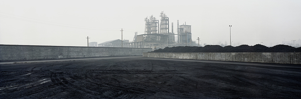 A cement plant on the grounds of a large steel factory on the outskirts of the city. Linfen, Shanxi, China. 2010
