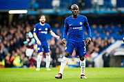 Chelsea (7) N'Golo Kanté  during the Premier League match between Chelsea and West Ham United at Stamford Bridge, London, England on 8 April 2018. Picture by Sebastian Frej.