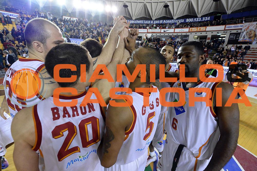 DESCRIZIONE : Roma Lega serie A 2013/14 Acea Virtus Roma Pasta Reggia Caserta<br /> GIOCATORE : Team<br /> CATEGORIA : Esultanza<br /> SQUADRA : Acea Roma<br /> EVENTO : Campionato Lega Serie A 2013-2014<br /> GARA : Acea Virtus Roma Pasta Reggia Caserta<br /> DATA : 23/02/2014<br /> SPORT : Pallacanestro<br /> AUTORE : Agenzia Ciamillo-Castoria/GiulioCiamillo<br /> Galleria : Lega Seria A 2013-2014<br /> Fotonotizia : Roma Lega serie A 2013/14 Acea Virtus Roma Pasta Reggia Caserta<br /> Predefinita :