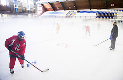 Matjaz Kopitar during practice session of Hockey Academy of Anze Kopitar and Tomaz Razingar, on July 6, 2017 in Ice Hockey arena Bled, Slovenia. Photo by Vid Ponikvar / Sportida