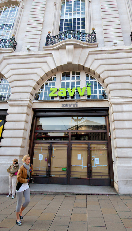 London Jan 29  Closed Zavvi sore in Piccadilly .DVD and games retailer Zavvi is set to close stores in Bromley, Kensington and the Kings Road as part of moves to close 15 more UK outlets...A total of 295 staff will lose their jobs in the closures, set to take place immediately, administrators say. .Zavvi, the former Virgin Megastore chain, fell into administration on Christmas Eve.
