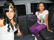 10.OCTOBER.2009 - LONDON<br /> <br /> A HAPPY AND SMILING LOOKING AMY WINEHOUSE LEAVING THE LONDON CLINIC AT 2.00PM WITH GOD DAUGHTER DIONNE BROMFIELD AND HEADED TO THE BBC STUDIOS WHERE AMY IS PERFORMING AS THE BACKING SINGER FOR DIONNE FOR THE STRICTLY COME DANCING SHOW THIS EVENING.<br /> <br /> BYLINE: EDBIMAGEARCHIVE.COM<br /> <br /> *THIS IMAGE IS STRICTLY FOR UK NEWSPAPERS & MAGAZINES ONLY*<br /> *FOR WORLDWIDE SALES & WEB USE PLEASE CONTACT EDBIMAGEARCHIVE-0208 954 5968*