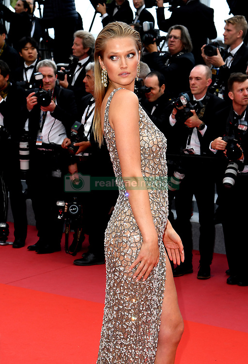 Toni Garrn attending the Solo: A Star Wars Story premiere at the 71st Cannes Film Festival