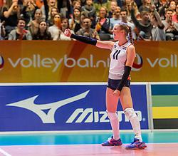 05-04-2017 NED:  CEV U18 Europees Kampioenschap vrouwen dag 4, Arnhem<br /> Nederland - Turkije 3-1 / Nederland doet zeer goede zaken en kan zich met winst op Italië zeker stellen van een halve finaleplaats - Lisa Nobel #11