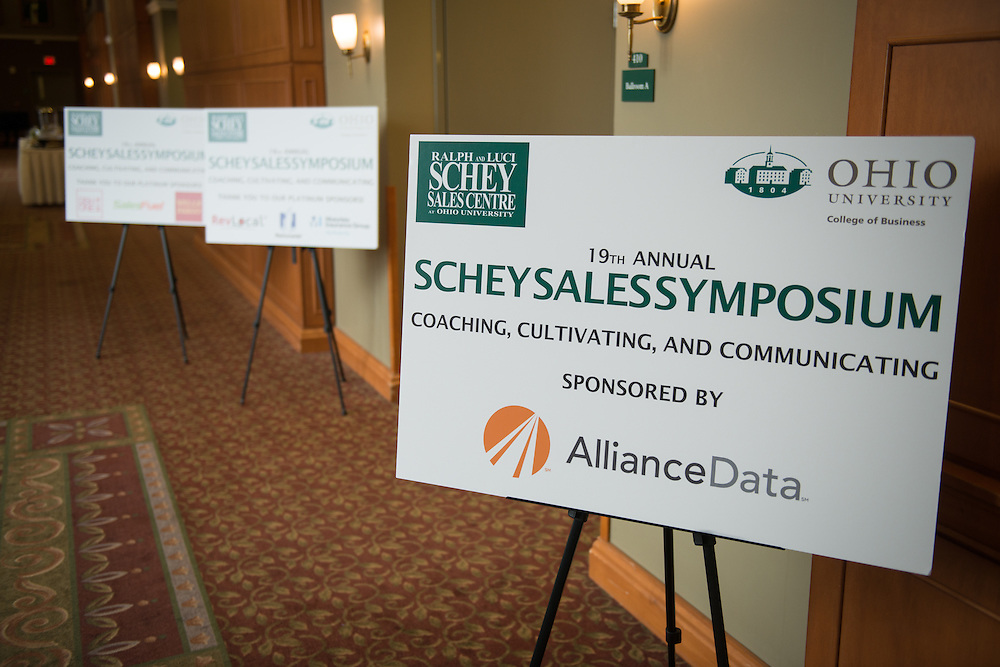 The 2016 Schey Sales Symposium is held in Baker Center on November 3, 2016.