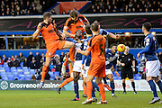 Ipswich Town defender Christophe Berra wins a header during the Sky Bet Championship match between Birmingham City and Ipswich Town at St Andrews, Birmingham, England on 23 January 2016. Photo by Alan Franklin.