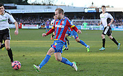 Crystal Palace Barry Bannan crosses the ball during the The FA Cup Third Round match between Dover Athletic and Crystal Palace at Crabble Athletic Ground, Dover, United Kingdom on 4 January 2015. Photo by Phil Duncan.
