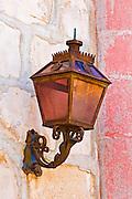 Lamp at the entrance to the Santa Barbara Mission (Queen of the missions), Santa Barbara, California