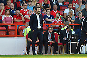 Leeds United manager Thomas Christiansen during the EFL Sky Bet Championship match between Nottingham Forest and Leeds United at the City Ground, Nottingham, England on 26 August 2017. Photo by Jon Hobley.