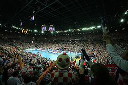 Croatian fans before 21st Men's World Handball Championship 2009 Main round Group I match between National teams of Croatia and Hungary, on January 24, 2009, in Arena Zagreb, Zagreb, Croatia.  (Photo by Vid Ponikvar / Sportida)