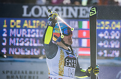 18.12.2016, Grand Risa, La Villa, ITA, FIS Ski Weltcup, Alta Badia, Riesenslalom, Herren, 2. Lauf, im Bild Luca De Aliprandini (ITA) // Luca De Aliprandini of Italy reacts after his 2nd run of men's Giant Slalom of FIS ski alpine world cup at the Grand Risa race Course in La Villa, Italy on 2016/12/18. EXPA Pictures © 2016, PhotoCredit: EXPA/ Johann Groder