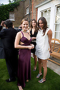 MEREDITH REEVE, SASHA VOLKOVA AND GENIE SLYUSAREMKO, Raisa Gorbachev Foundation Party, at the Stud House, Hampton Court Palace on June 7, 2008 in Richmond upon Thames, London,Event hosted by Geordie Greig and is in aid of the Raisa Gorbachev Foundation - an international fund fighting child cancer.  7 June 2008.  *** Local Caption *** -DO NOT ARCHIVE-© Copyright Photograph by Dafydd Jones. 248 Clapham Rd. London SW9 0PZ. Tel 0207 820 0771. www.dafjones.com.