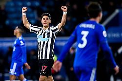 Ayoze Perez of Newcastle United celebrates victory over Leicester City - Mandatory by-line: Robbie Stephenson/JMP - 12/04/2019 - FOOTBALL - King Power Stadium - Leicester, England - Leicester City v Newcastle United - Premier League