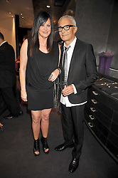 VIDAL SASSOON and his wife RONNIE at a party to celebrate the new Stephen Webster store on Mount Street, London W1 followed by a dinner at Maddox, Mill Street, London on 24th June 2009.