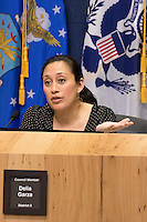 District 2 Council Member Delia Garza at City Council Meeting