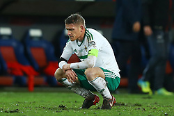 November 12, 2017 - Basel, Switzerland - The disappointment of Steven Davis of Northern Ireland at the end of the match  during the FIFA 2018 World Cup Qualifier Play-Off: Second Leg between Switzerland and Northern Ireland at St. Jakob-Park on November 12, 2017 in Basel, Basel-Stadt. (Credit Image: © Matteo Ciambelli/NurPhoto via ZUMA Press)