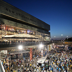 April 24, 2011; New Orleans, LA, USA; A general view outside before tip off of game four of the first round of the 2011 NBA playoffs between the New Orleans Hornets and the Los Angeles Lakers at the New Orleans Arena.    Mandatory Credit: Derick E. Hingle