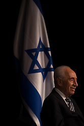 SDEROT, July 6, 2014  Israeli President Shimon Peres smiles during a news conference in Sderot, southern Israel, on July 6, 2014. Shimon Peres held a news conference in Sderot on Sunday and shared his remarks on the tense situation between Israel and the Palestinian territories. (Credit Image: © Li Rui/Xinhua/ZUMA Wire)