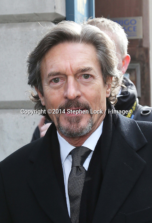 Nigel Havers arriving for the funeral of Only Fools and Horses actor  Roger Lloyd-Pack who played Trigger in the TV show, at St.Paul's Church in  London, Thursday, 13th February 2014. Picture by Stephen Lock / i-Images