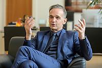 24 JUL 2020, BERLIN/GERMANY:<br /> Heiko Maas, SPD, Bundesaussenminister, waehrend einem Interview, in seinem Buero, Auswaertiges Amt<br /> IMAGE: 20200724-01-020<br /> KEYWORDS: Buero
