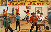 W.I. Swain's western spectacular production, Jesse James  [1880] (poster) lithograph