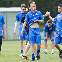 St Johnstone Pre-Season Training...07.07.14<br /> Steven Anderson after a running exercise<br /> Picture by Graeme Hart.<br /> Copyright Perthshire Picture Agency<br /> Tel: 01738 623350  Mobile: 07990 594431