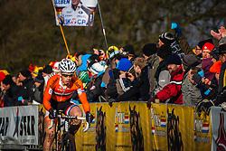 Lars VAN DER HAAR (27,NED) 1st lap at Men UCI CX World Championships - Hoogerheide, The Netherlands - 2nd February 2014 - Photo by Pim Nijland / Peloton Photos