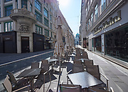 Vienna, Austria. Almost no people are in the city during the first week of a de facto curfew to combat the spread of the Corona Virus SARS Covid-19.