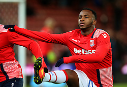 Saido Berahino of Stoke City warms up - Mandatory by-line: Matt McNulty/JMP - 01/02/2017 - FOOTBALL - Bet365 Stadium - Stoke-on-Trent, England - Stoke City v Everton - Premier League