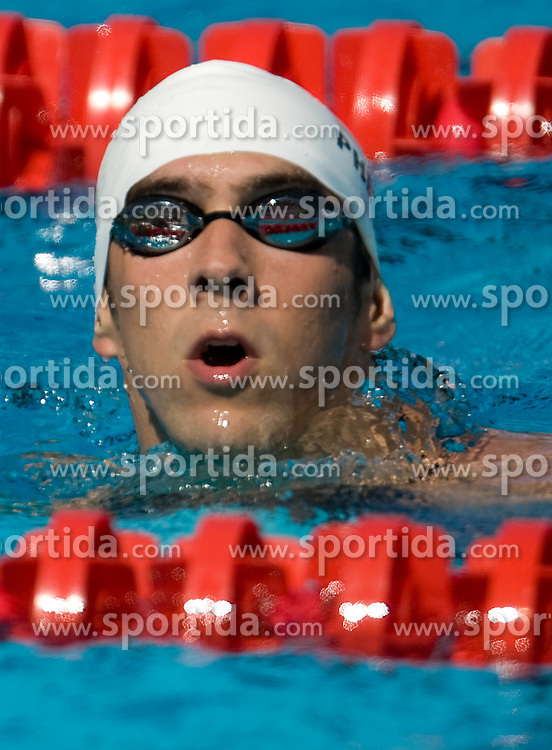 Michael Phelps of USA competes in the Men's 200m Freestyle Heats during the 13th FINA World Championships Roma 2009, on July 27, 2009, at the Stadio del Nuoto,  in Foro Italico, Rome, Italy. (Photo by Vid Ponikvar / Sportida)