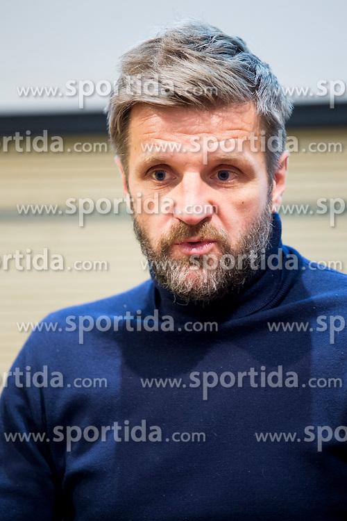 Igor Biscan, head coach of NK Olimpija Ljubljana at press conference of NK Olimpija before spring part season of PLTS, on February 21, 2017 in Austria Trend Hotel, Ljubljana, Slovenia. Photo by Urban Urbanc / Sportida