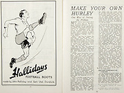 All Ireland Senior Hurling Championship Final,.Brochures,.01.09.1946, 09.01.1946, 1st September 1946, .Cork 7-5, Kilkenny 3-8, .Minor Dublin v Tipperary.Senior Cork v Kilkenny.Croke Park, ..Advertisements, Hallidays Football Boots, ..Articles, Make Your Own Hurley; One Way of Solving the Problem, .