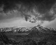 Storm clouds over Lone Pine Peak and the Alabama Hills, Inyo County, Eastern Sierra, California
