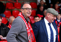 Accrington Stanley fan and former England Cricketer, now Sky Sports Commentator, David Lloyd at The Wham Stadium - Mandatory by-line: Robbie Stephenson/JMP - 14/04/2018 - FOOTBALL - Wham Stadium - Accrington, England - Accrington Stanley v Exeter City - Sky Bet League Two