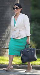 © Licensed to London News Pictures. 19/07/2016. London, UK. Priti Patel MP, Secretary of State for International Development, arrives in Downing Street for Prime Minister Theresa May's first cabinet.  Photo credit: Peter Macdiarmid/LNP