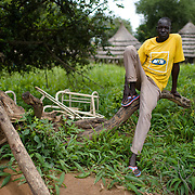 Community mobiliser, Agavito Brown, in Kudo Village in Eastern Equatoria, South Sudan on 8 August 2014.