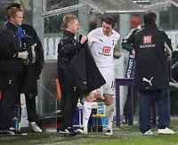 Photo: Maarten Straetemans/Sportsbeat Images.<br /> Anderlecht v Tottenham Hotspur. UEFA Cup. 06/12/2007.<br /> Robbie Kean got substituted