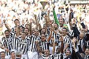 © Filippo Alfero<br /> Juventus-Cagliari, Serie A 2013/2014 e assegnazione Coppa Scudetto<br /> Torino, 18/05/2014<br /> sport calcio<br /> Nella foto:
