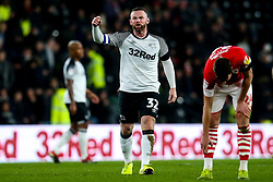 Wayne Rooney of Derby County cuts an angry figure - Mandatory by-line: Robbie Stephenson/JMP - 02/01/2020 - FOOTBALL - Pride Park Stadium - Derby, England - Derby County v Barnsley - Sky Bet Championship
