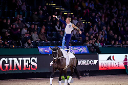 ROBERTS Kristian (USA), Highlander 82<br /> Leipzig - Partner Pferd 2019<br /> FEI Vaulting World Cup<br /> 2. Umlauf<br /> Herren / Male<br /> 19. Januar 2019<br /> © www.sportfotos-lafrentz.de/Stefan Lafrentz