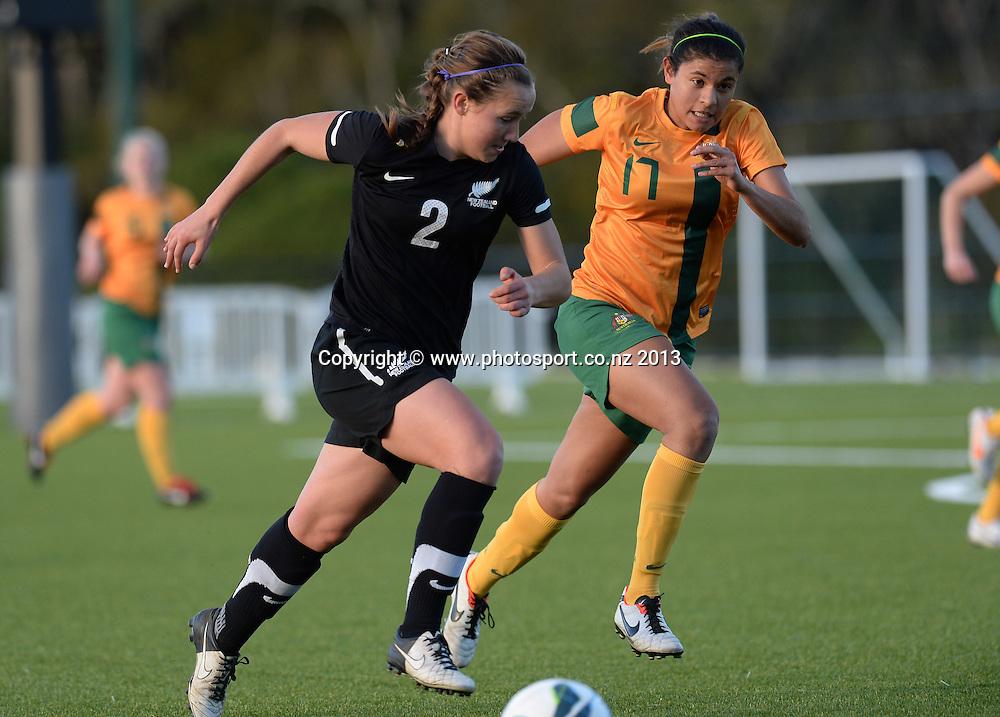 Holly Patterson. New Zealand Junior Football Ferns v Australia Young Matildas. Women's U20 International. Match 3. Seddon Fields, Auckland. Monday 29 July 2013. Photo: Andrew Cornaga/www. Photosport.co.nz