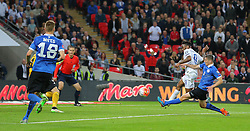 Raheem Sterling of England scores to make it 2-0 - Mandatory byline: Paul Terry/JMP - 07966 386802 - 09/10/2015 - FOOTBALL - Wembley Stadium - London, England - England v Estonia - European Championship Qualifying - Group E