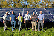 The directors of the Low carbon Gordano, Moorhouse solar array. A Solarsense renewable energy project. Delivering 1,750HWh per annum.